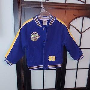 Disney Buzz Lightyear Varsity jacket xxs 2t/3t